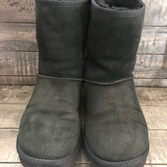 UGG Shoes - Uggs Short Black Boots  5825 size 8